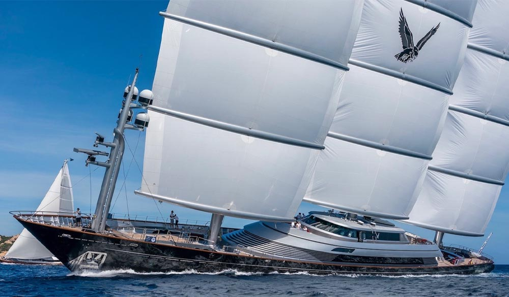 Maltese Falcon the Perini superyachts