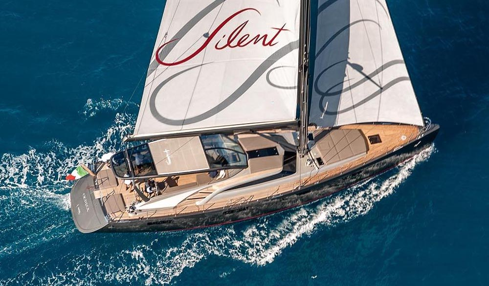 Gigreca the custom sail of Admiral Yacht