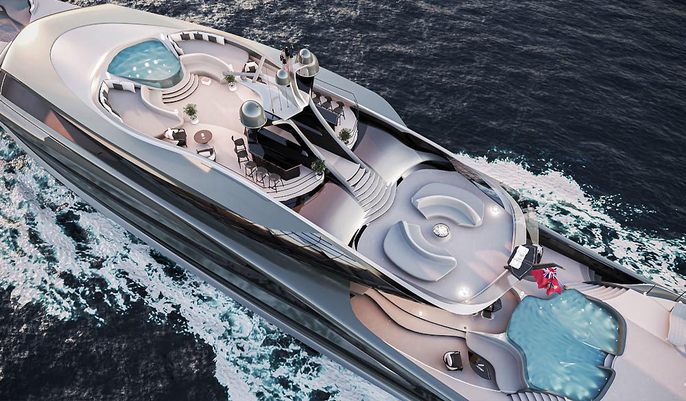Futura yacht concept by Vripack